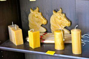 Bougies fabriquées à La Maison des Abeilles