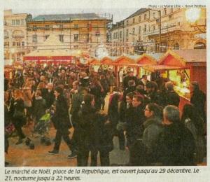 Photo Le Maine Libre, dimanche 8 décembre 2013