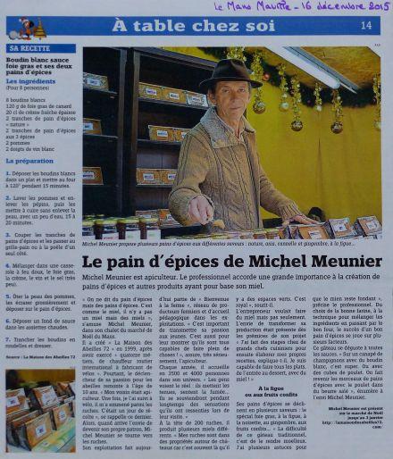 Pain d'Épices Michel Meunier-Le Mans Maville 16 déc 2015